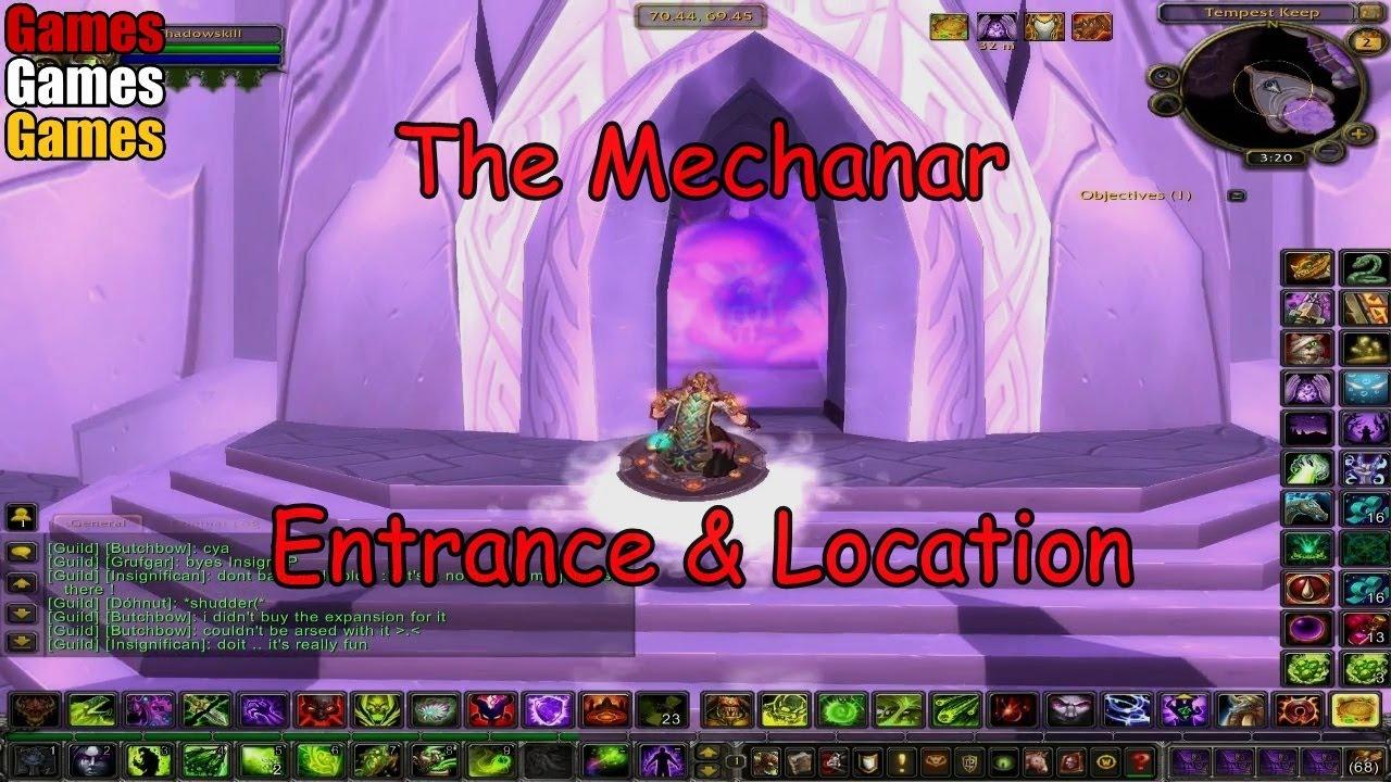 the mechanar entrance location world of warcraft the burning crusade youtube. Black Bedroom Furniture Sets. Home Design Ideas