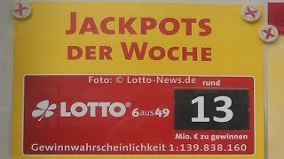 Lotto am 16.12.2017: Heute 13 Mio. € im Samstags-Jackpot