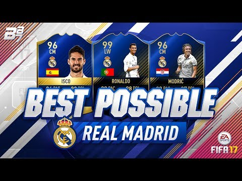 BEST POSSIBLE REAL MADRID TEAM! w TOTY RONALDO AND TOTS ISCO!  FIFA 17