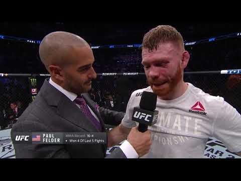 UFC Phoenix: Paul Felder Octagon Interview