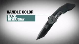 smith wesson m tactical police magic assisted opening tanto knife with black plain edge blade