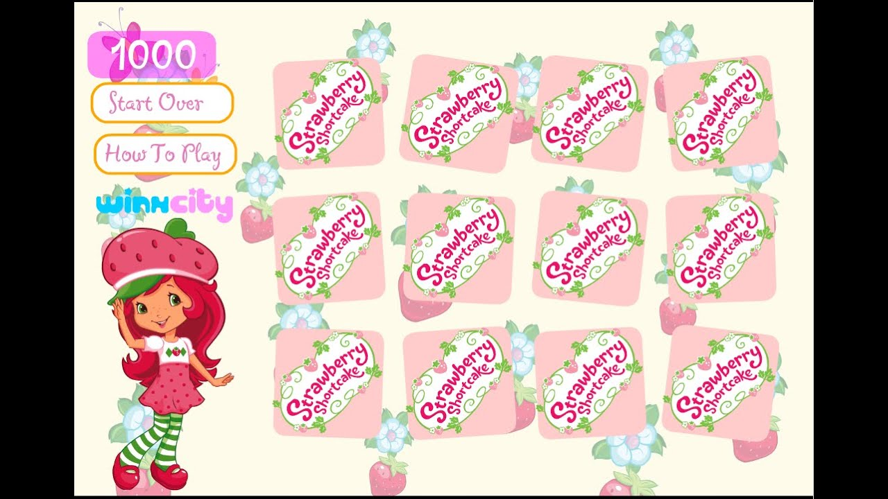Strawberry Shortcake Matching Games For Kids