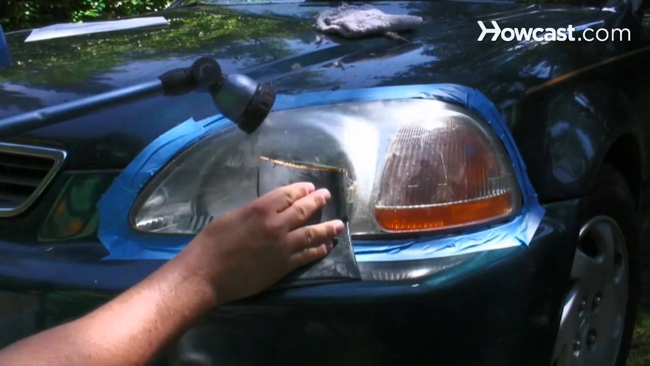 How To Clean Your Car Headlights Youtube