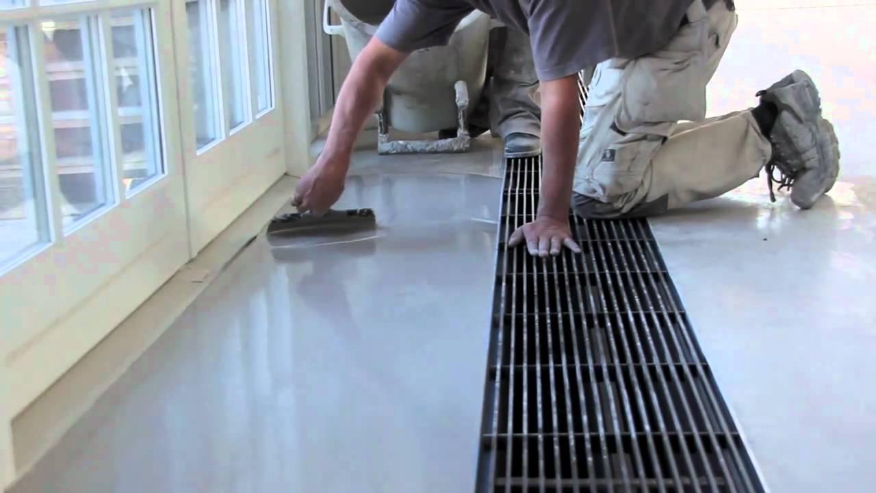 poleret beton gør det selv