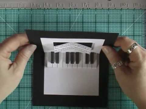Pop-Up Card with Piano Keyboard