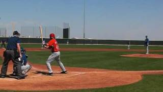 Chase Weems RBI Single for the Cincinnati Reds