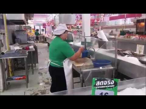 Fried Fish at Tesco Supermarket - Thailand