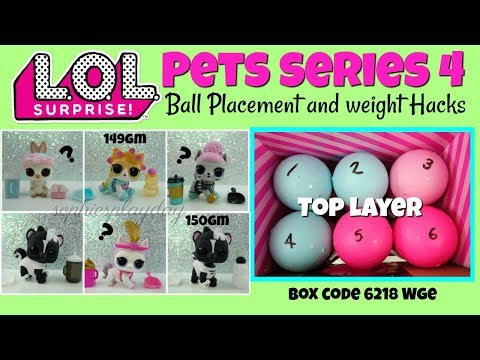 LOL Surprise Pets Series 4 Eye Spy Decoder Ball Placement And Weight Hacks Showpony Le Skunk Bebe