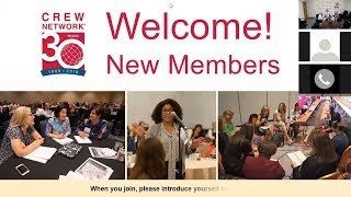 New Members: How to Maximize Your CREW Network Membership