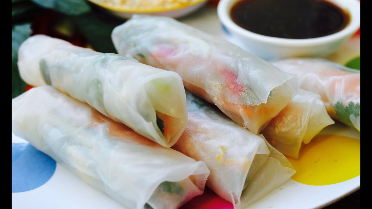Easy Recipe How To Make Vietnamese Rice Paper Rolls Youtube