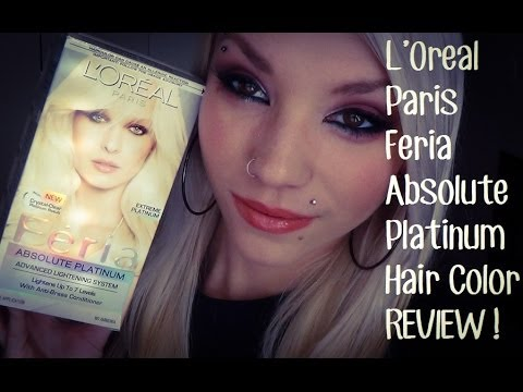 l oreal paris feria absolute platinum hair dye review youtube