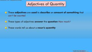 Grammar Video for Kids: Kinds of Adjectives