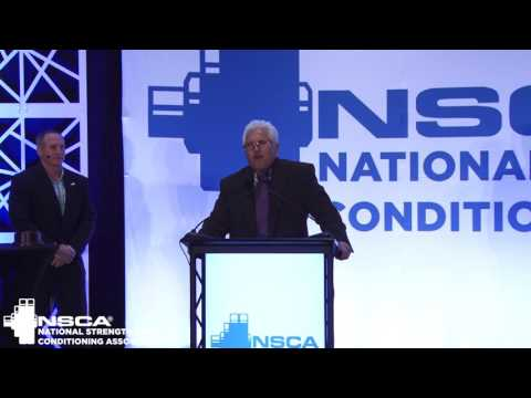 Jeff Connors accepts the NSCA 2017 College Strength and Conditioning Coach of the Year award