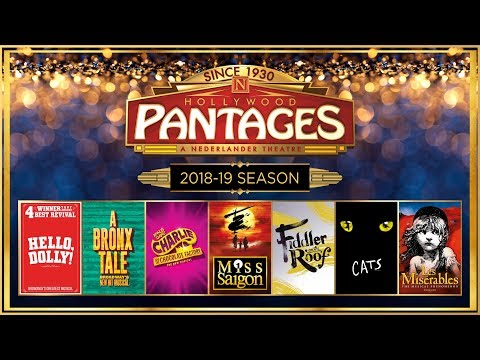 Announcing Hollywood Pantages Theatre's New 2018-19 Season