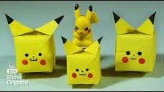 Xếp giấy Origami-Hướng dẫn gấp Pikachu giấy