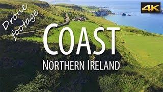 Coast Northern Ireland. 4K Drone Footage