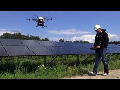 Spektakulärer Einsatz: Drohnen über Deutschland