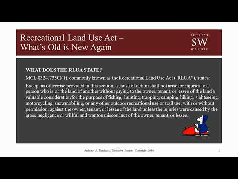 Recreational Land Use Act