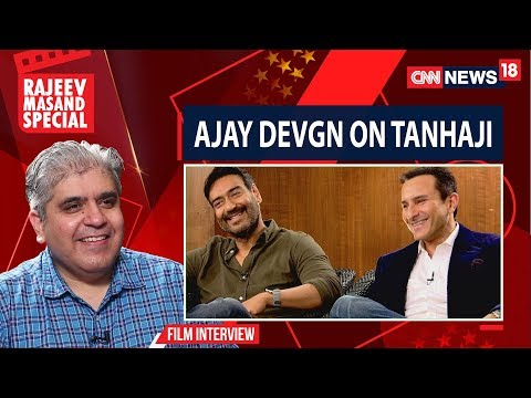 Ajay Devgan And Saif Ali Khan With Rajeev Masand I Tanhaji