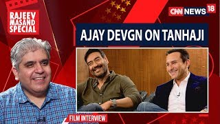 Ajay Devgan and Saif Ali Khan with Rajeev Masand I Tanhaji