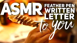 Hypnotic ASMR ✍️  Handwriting Scribble on a Rainy Day: Letter Written to YOU
