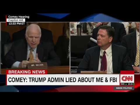 Sen McCain's questioning confuses Comey