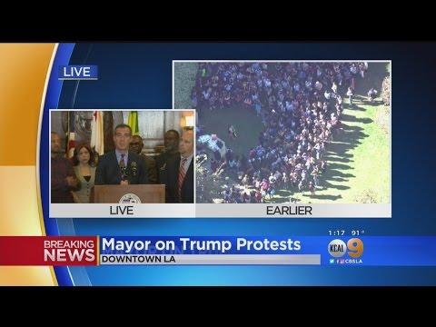 Mayor Garcetti Urges Safe Protests