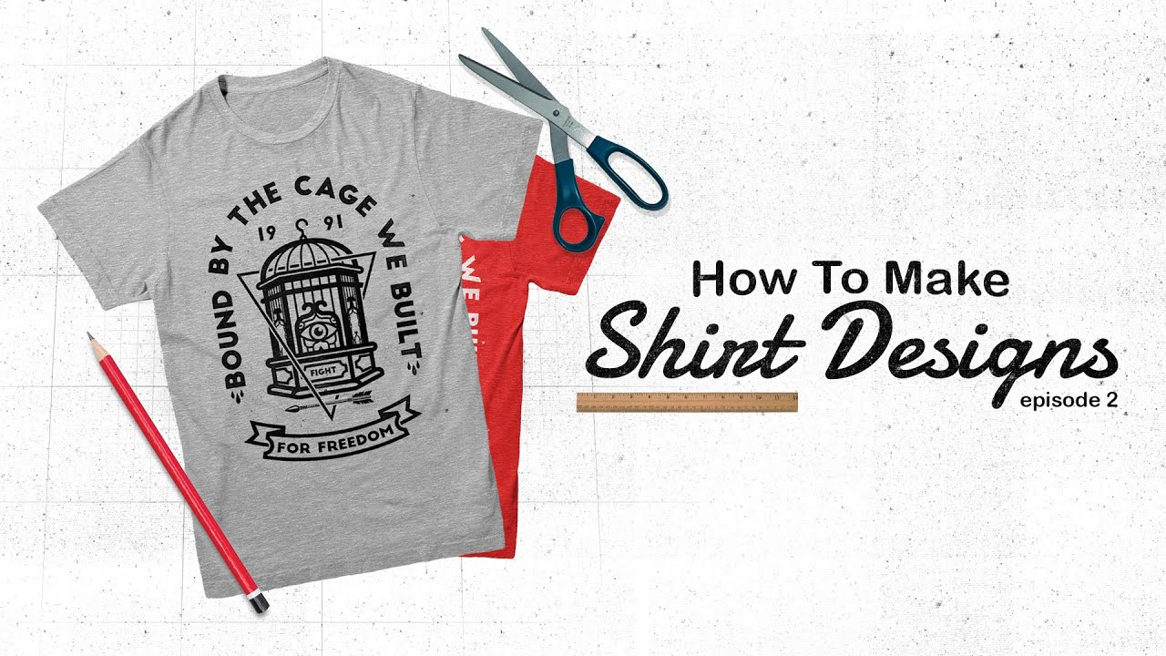 How to make shirt designs ep 2 free t shirt mock for Make your own t shirt design at home