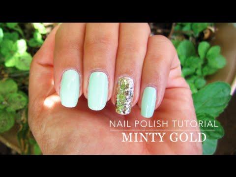 EASY Mint Green Nail Polish Tutorial - YouTube