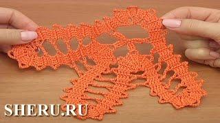 Crochet Bruges Lace Motif Урок 16 часть 1 из 2  Брюггское кружево крючком