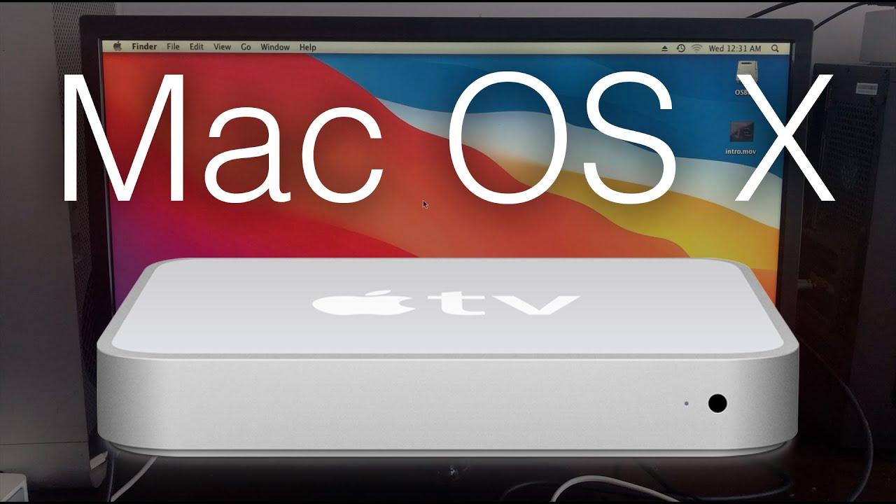 Apple TV running Mac OS X Leopard! - YouTube