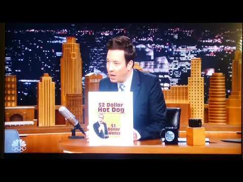 Jimmy Fallon 2 dollar hotdog 1 dollar water (Special)