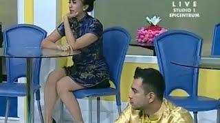 Celana Dalam Laudya cyntia Bella terlihat saat show @pesbukers, 21 Juli 2014