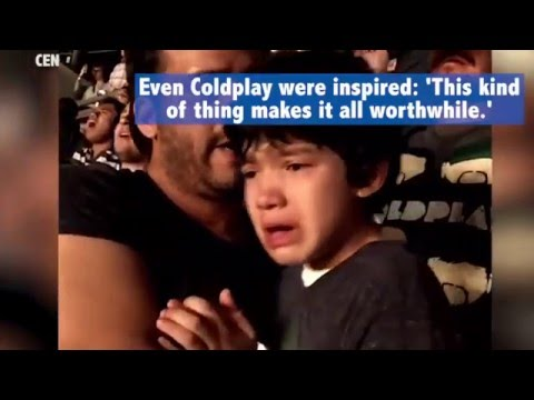 Autistic boy cries of joy at Coldplay's concert
