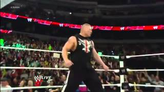 WWE : Triple H Returns And Fights With Brock Lesnar [RAW, 25th February 2013]