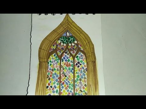 Beautiful watercolour painting for beginners || beautiful and simple window