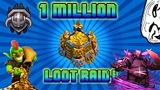 Clash of clans - 1.1 Million loot raid with laloon (lavaloon)
