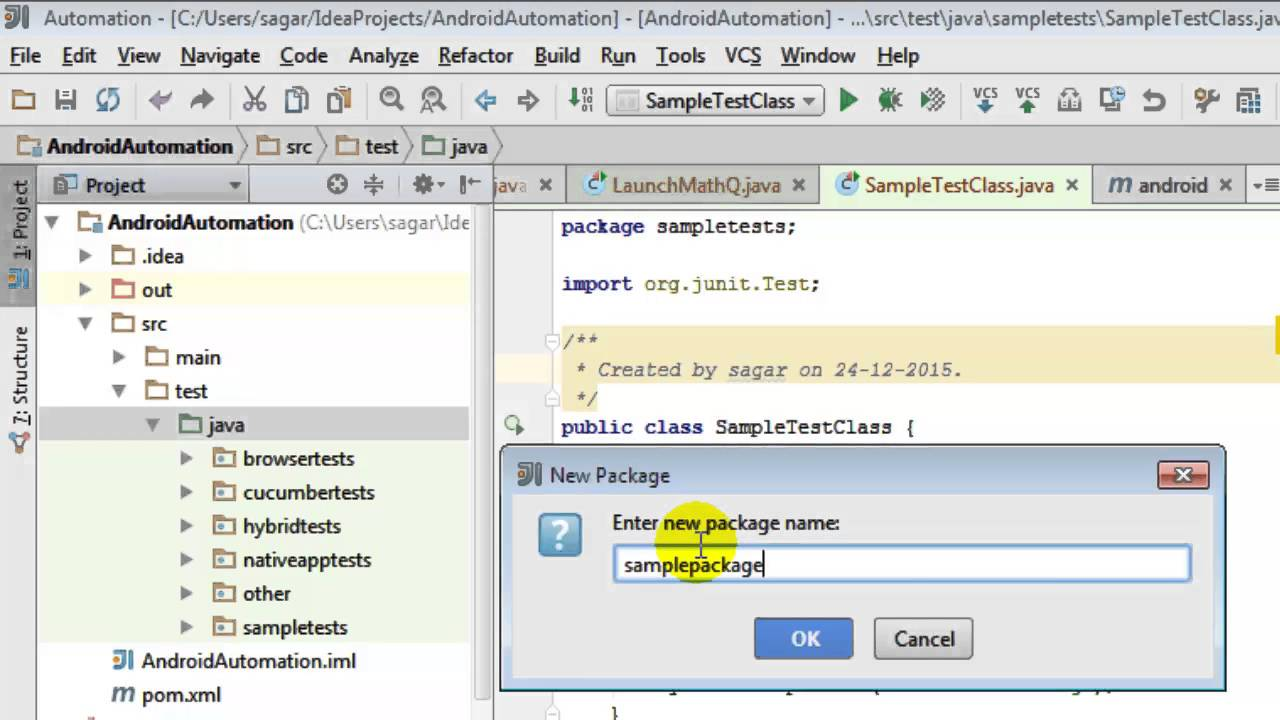 34918393cfca82 How to create package in intellij IDEA - YouTube