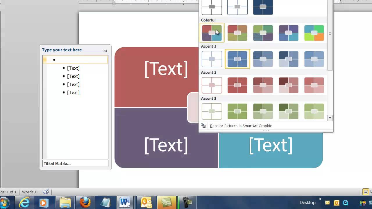 Microsoft word 2010 the basics create a company diagram with microsoft word 2010 the basics create a company diagram with smart art matrix youtube ccuart Choice Image