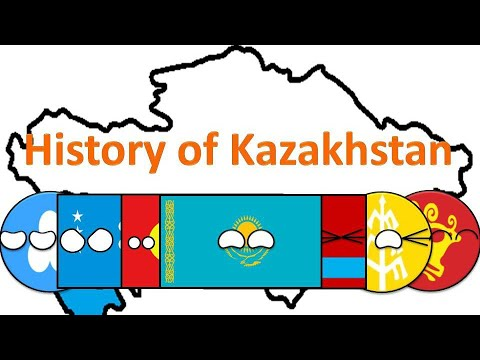 History of Kazakhstan in Countryballs