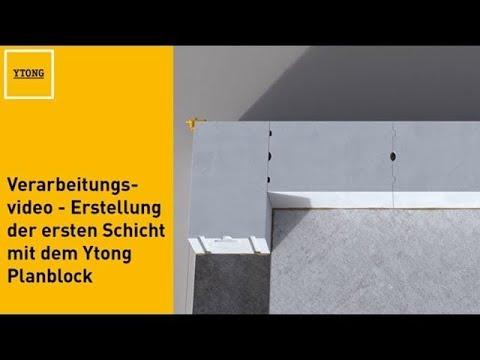 ytong verarbeitungsvideo erstellung der ersten schicht. Black Bedroom Furniture Sets. Home Design Ideas
