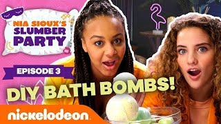 DIY Bath Bombs ft. Sofie Dossi | Ep. 3 | Nia Sioux's Slumber Party