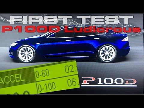 Tesla Model S P100D Ludicrous Performance Review Testing 0-60 MPH 0-100 MPH 1/4 Mile