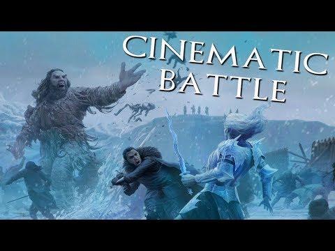 ИГРА ПРЕСТОЛОВ: БИТВА ОДИЧАЛЫХ И БЕЛЫХ ХОДОКОВ [Cinematic Battle Got - Total War Warhammer Gameplay]