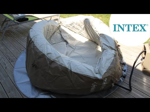 gonflage du spa pure spa intex 28404 youtube. Black Bedroom Furniture Sets. Home Design Ideas