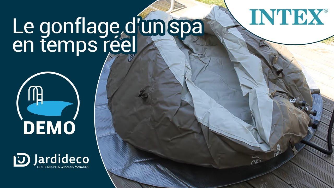 Spa Intex Qui Se Degonfle test du spa gonflable intex à bulles rond pure spa