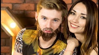 Как  целовать парня с бородой