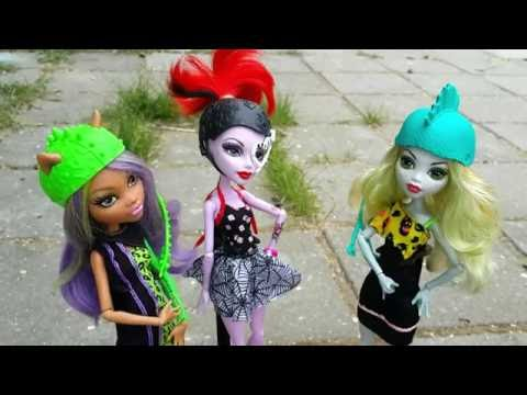 Видео для девочек. Куклы Монстер Хай - Клодин, Оперетта и Лагуна