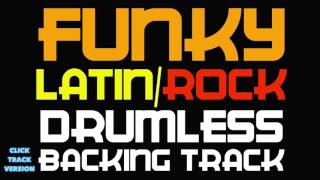Latin Rock Funky Drumless Santana Style Backing Track With A Click Track