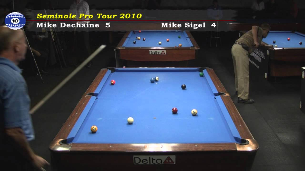 Mike Sigel Vs Mike Dechaine At Raxx Pool Room Bar And